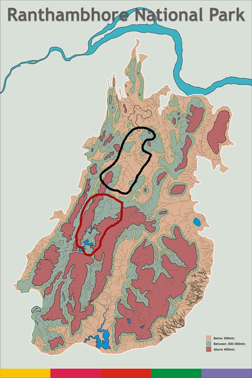Map of Ranthambore